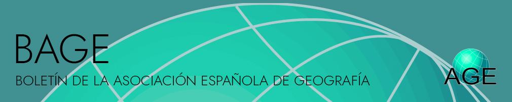 BAGE Boletín de la ASociación Española de Geografía
