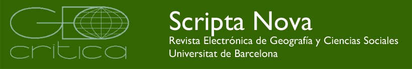 SCRIPTA NOVA, Revista Electrónica de Geografía y Ciencias Sociales